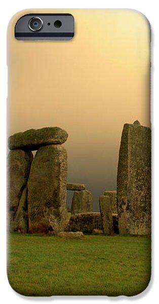 Eerie Stonehenge iPhone Case by Deborah Smolinske
