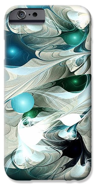 Aqua iPhone Cases - Effervescence iPhone Case by Anastasiya Malakhova