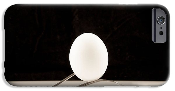 Balance iPhone Cases - Egg and Fork iPhone Case by Juli Scalzi