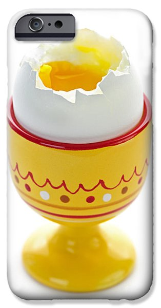 Protein iPhone Cases - Egg in cup iPhone Case by Elena Elisseeva