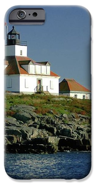 Egg Rock Lighthouse iPhone Case by Kathleen Struckle