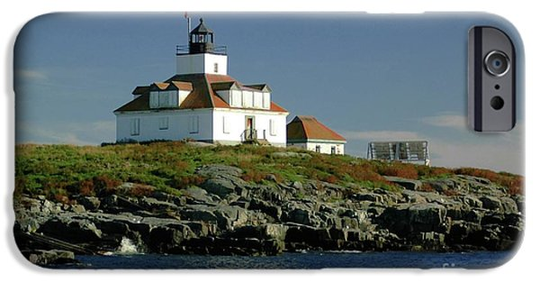 Maine iPhone Cases - Egg Rock Lighthouse iPhone Case by Kathleen Struckle