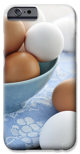 Eggs iPhone Cases - Eggs in bowl iPhone Case by Elena Elisseeva