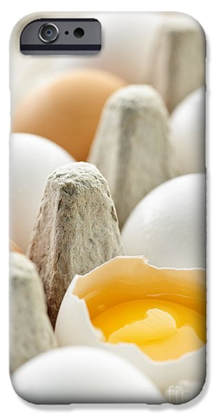 Eggs in box iPhone Case by Elena Elisseeva