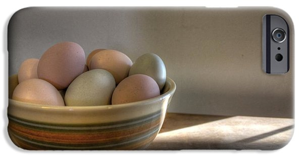 Agriculture iPhone Cases - Eggs iPhone Case by Jane Linders