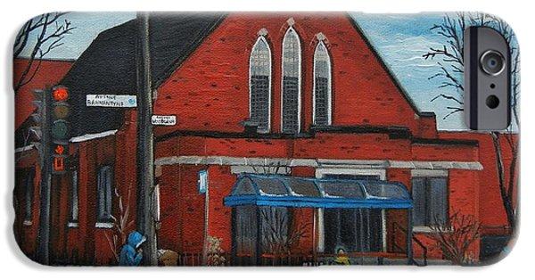 Streets Of Montreal iPhone Cases - Eglise Baptiste Evangelique De La Grace De Verdun  iPhone Case by Reb Frost