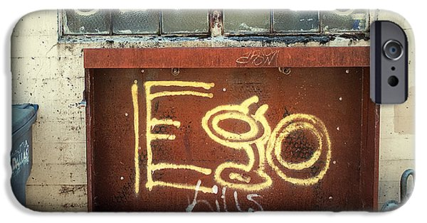 Ego iPhone Cases - Ego Kills iPhone Case by Gwyn Newcombe