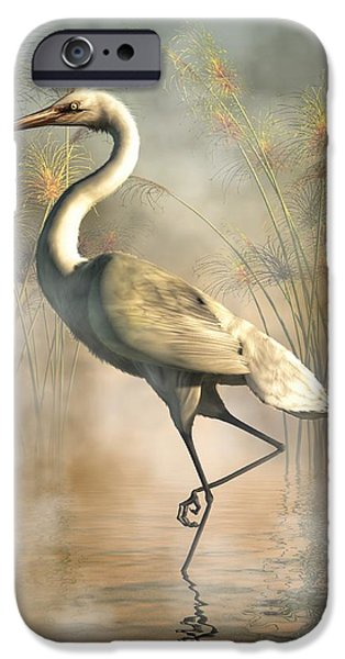 Daniel iPhone Cases - Egret iPhone Case by Daniel Eskridge