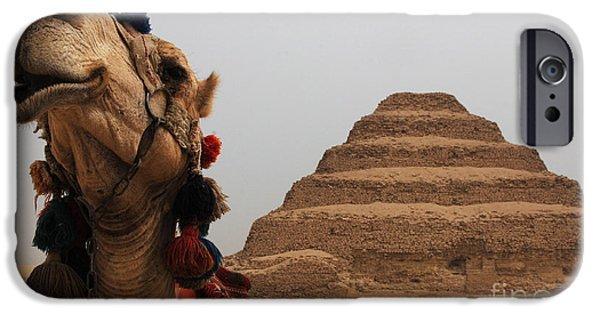 Karnak iPhone Cases - Egypt Step Pyramid Saqqara iPhone Case by Bob Christopher