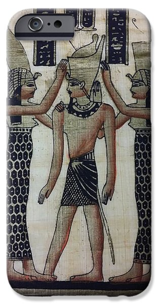 Horus Digital Art iPhone Cases - Pharaoh Atem iPhone Case by Rob Hans