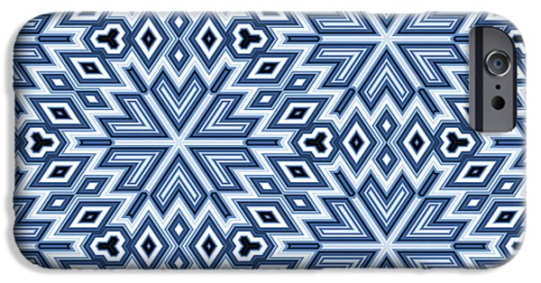 Blue Blocks iPhone Cases - Egyptian Pyramidal Cubes iPhone Case by Daniel Hagerman