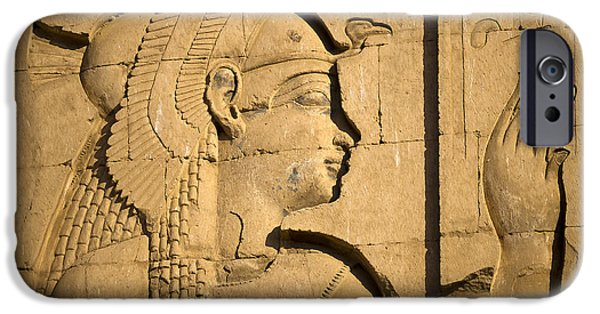 Hathor iPhone Cases - Egyptian Queen iPhone Case by Brenda Kean