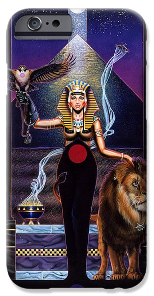 Egypt iPhone Cases - Egyptian Queen iPhone Case by Tim  Scoggins