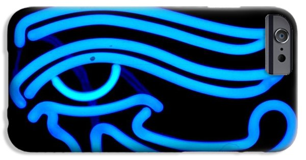Symbol Sculptures iPhone Cases - Egyptian Secret Eye iPhone Case by Pacifico Palumbo