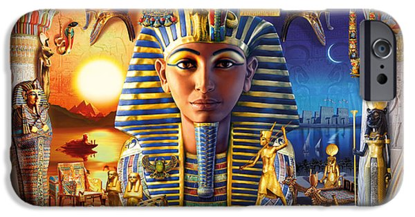 Pharaoh iPhone Cases - Egyptian Treasures II iPhone Case by Andrew Farley