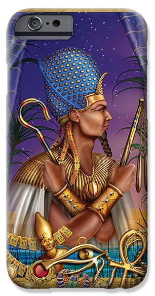 Jester Digital iPhone Cases - Egyptian Triptych Variant I iPhone Case by Ciro Marchetti