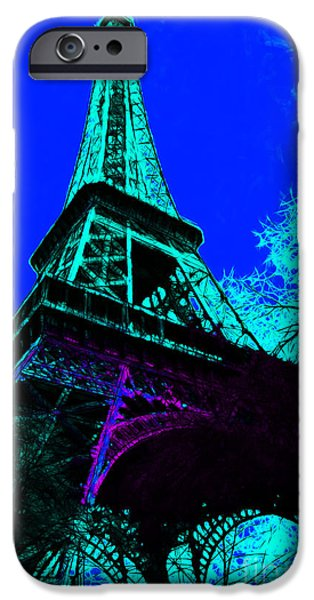 Eiffel 20130115v4 iPhone Case by Wingsdomain Art and Photography