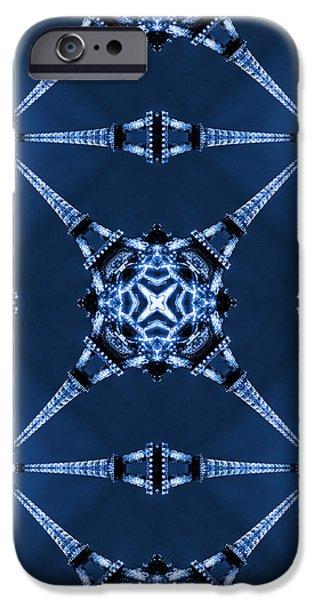 Eiffel Art 18 iPhone Case by Mike McGlothlen