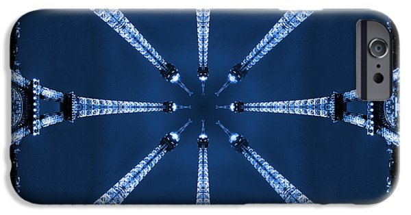 Fine Art Abstract iPhone Cases - Eiffel Art 32 iPhone Case by Mike McGlothlen