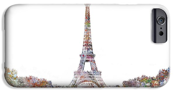 Modernist iPhone Cases - Eiffel Color Splash iPhone Case by Aimee Stewart