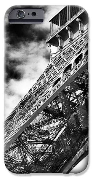 Cultural Icon iPhone Cases - Eiffel Curves iPhone Case by John Rizzuto