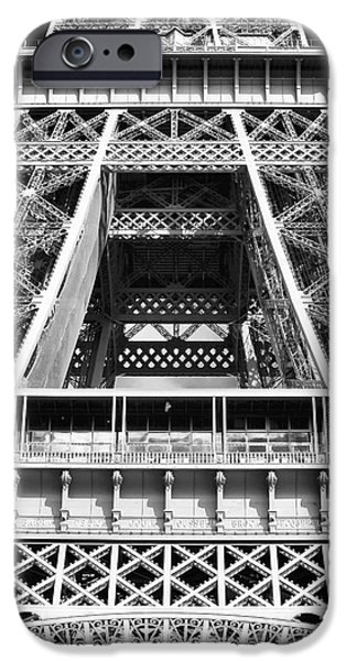 Cultural Icon iPhone Cases - Eiffel Details iPhone Case by John Rizzuto