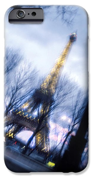 Action Shot iPhone Cases - Eiffel on the Move iPhone Case by Mike McGlothlen