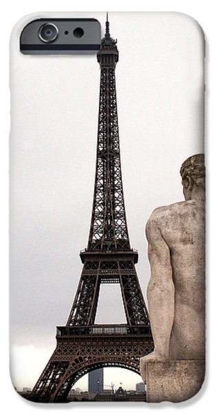 Jacob Lawrence iPhone Cases - Eiffel Tower 1 iPhone Case by Everett Spruill