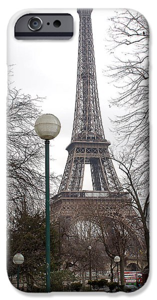 African-american Institute iPhone Cases - Eiffel Tower 3 iPhone Case by Everett Spruill