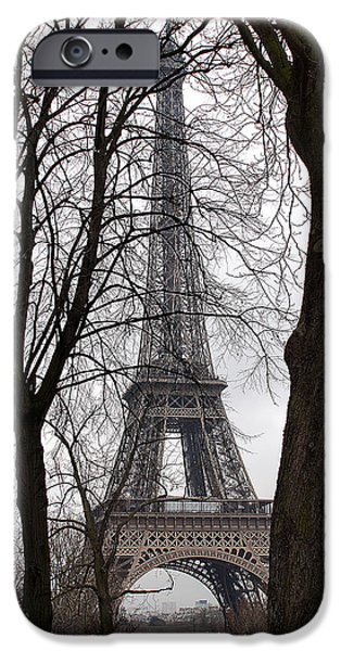 Jacob Lawrence iPhone Cases - Eiffel Tower 4 iPhone Case by Everett Spruill