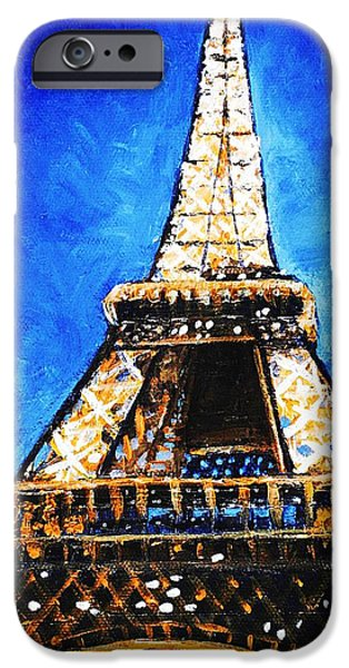 Buildings iPhone Cases - Eiffel Tower iPhone Case by Anastasiya Malakhova