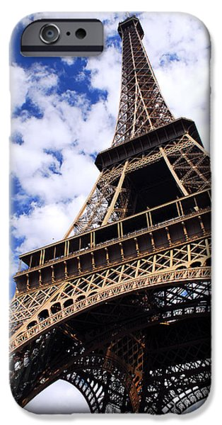 Travel Photographs iPhone Cases - Eiffel tower iPhone Case by Elena Elisseeva