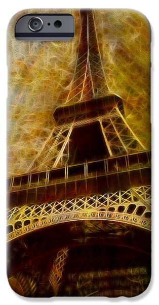 Cultural Icon iPhone Cases - Eiffel Tower iPhone Case by Jack Zulli