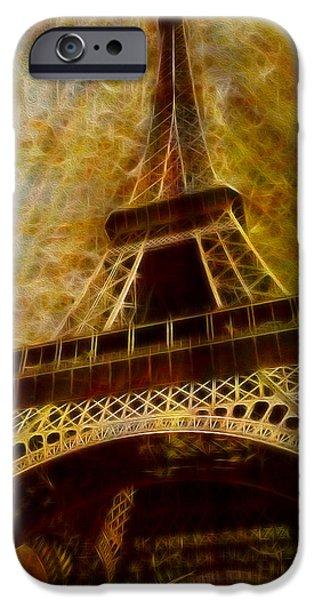 Eiffel Tower iPhone Case by Jack Zulli