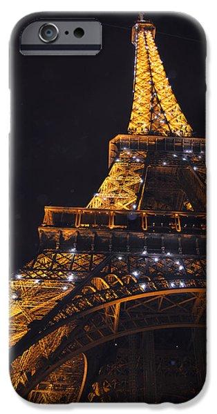 Eiffel Tower Paris France Illuminated iPhone Case by Patricia Awapara