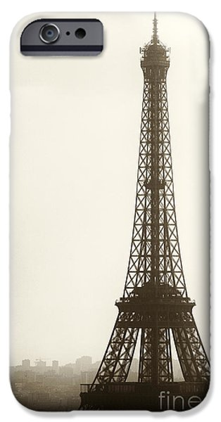 Eiffel Tower Silhouette iPhone Case by John Rizzuto