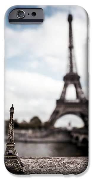 Travel Photographs iPhone Cases - Eiffel Trinket iPhone Case by Ryan Wyckoff