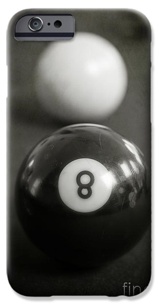 Creativity Photographs iPhone Cases - Eight Ball iPhone Case by Edward Fielding