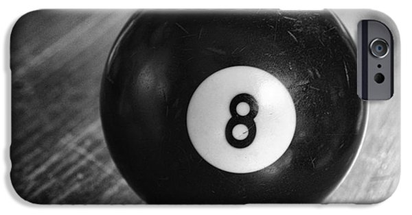 Sports Bar iPhone Cases - Eight Ball iPhone Case by Paul Ward