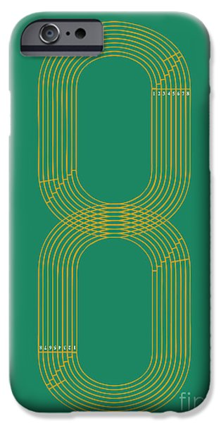 Run iPhone Cases - Eight Track Runners Never Quit iPhone Case by Budi Kwan