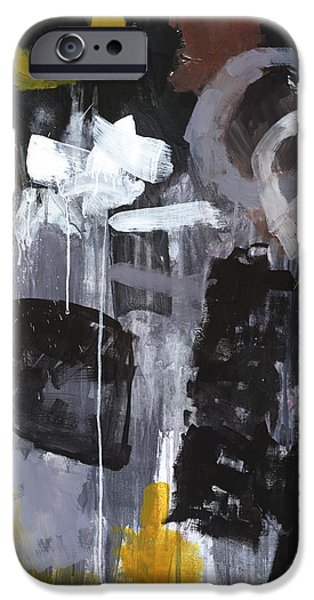 Abstract Expressionist iPhone Cases - Eighty-Foot Drop iPhone Case by Douglas Simonson