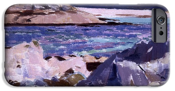 Twentieth Century iPhone Cases - Eilean Annraidh from the north end iPhone Case by Francis Campbell Boileau Cadell