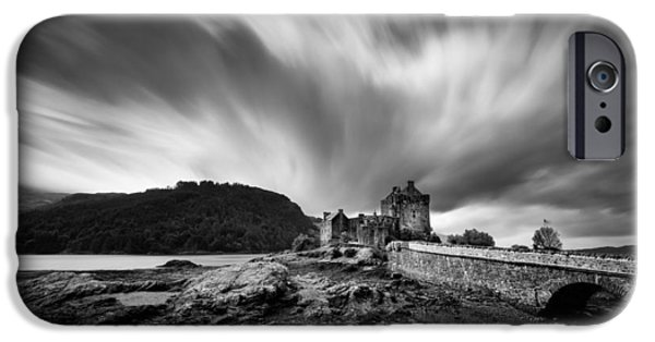 Dave iPhone Cases - Eilean Donan Castle 2 iPhone Case by Dave Bowman