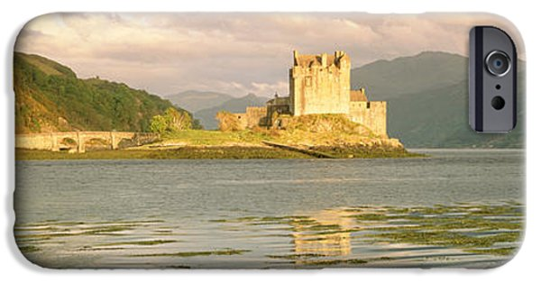 Reconstruction iPhone Cases - Eilean Donan Castle Highlands Scotland iPhone Case by Panoramic Images