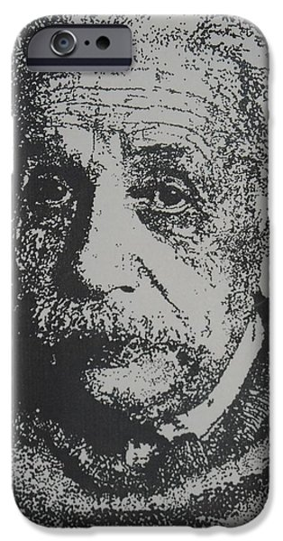Einstein Drawings iPhone Cases - Einstein iPhone Case by Annastaysia Savage