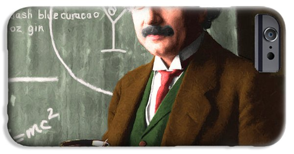 E=mc2 iPhone Cases - Einstein Discovers The Atomic Bomb 20140910 square iPhone Case by Wingsdomain Art and Photography