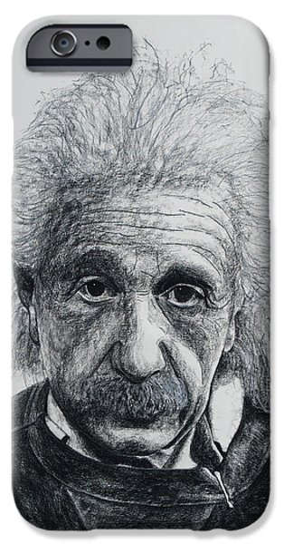 Einstein Drawings iPhone Cases - Einstein iPhone Case by John Emery