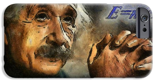 Mechanics Paintings iPhone Cases - Einsteins Revelation iPhone Case by Dan Sproul