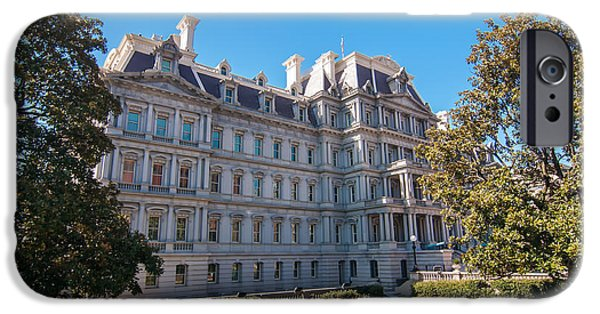 President iPhone Cases - Eisenhower Executive Office Building in Washington DC iPhone Case by Alexandr Grichenko