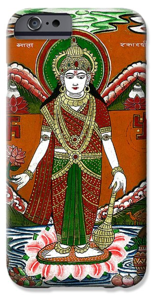 Incarnation iPhone Cases - Ek Darshi Mata Vishnu Avatar iPhone Case by Ashok Kumar